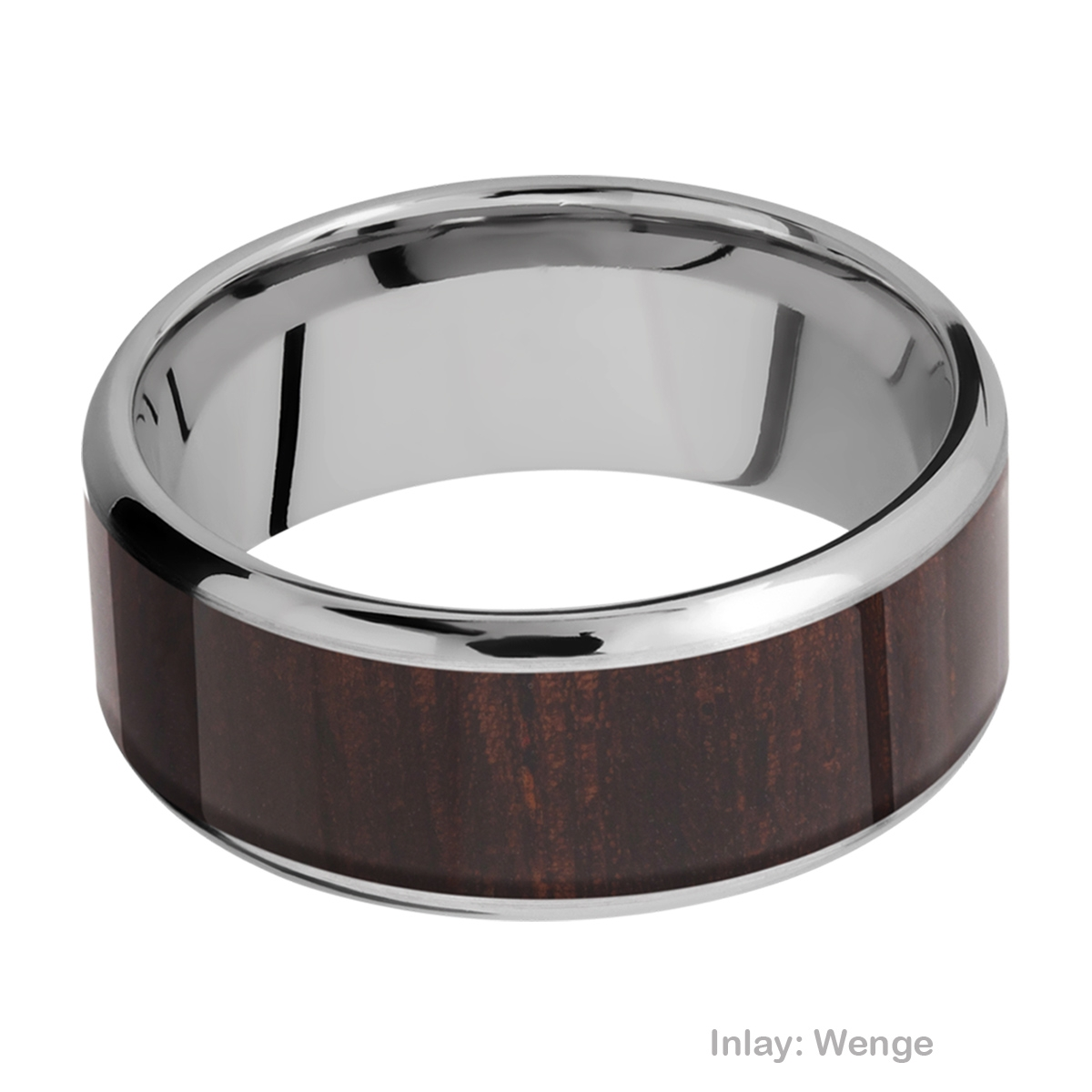 Lashbrook 9B17(NS)/HARDWOOD Titanium Wedding Ring or Band Alternative View 13