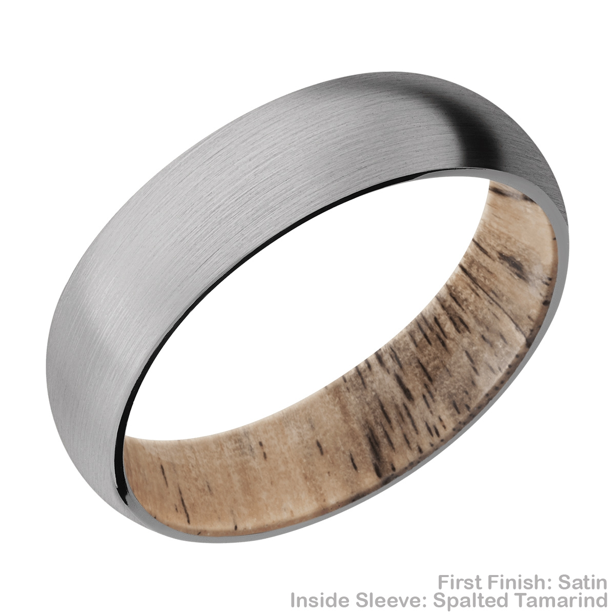 Lashbrook HWSLEEVE6D Titanium Wedding Ring or Band Alternative View 3