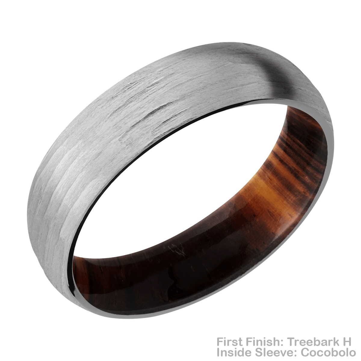 Lashbrook HWSLEEVE6D Titanium Wedding Ring or Band Alternative View 11
