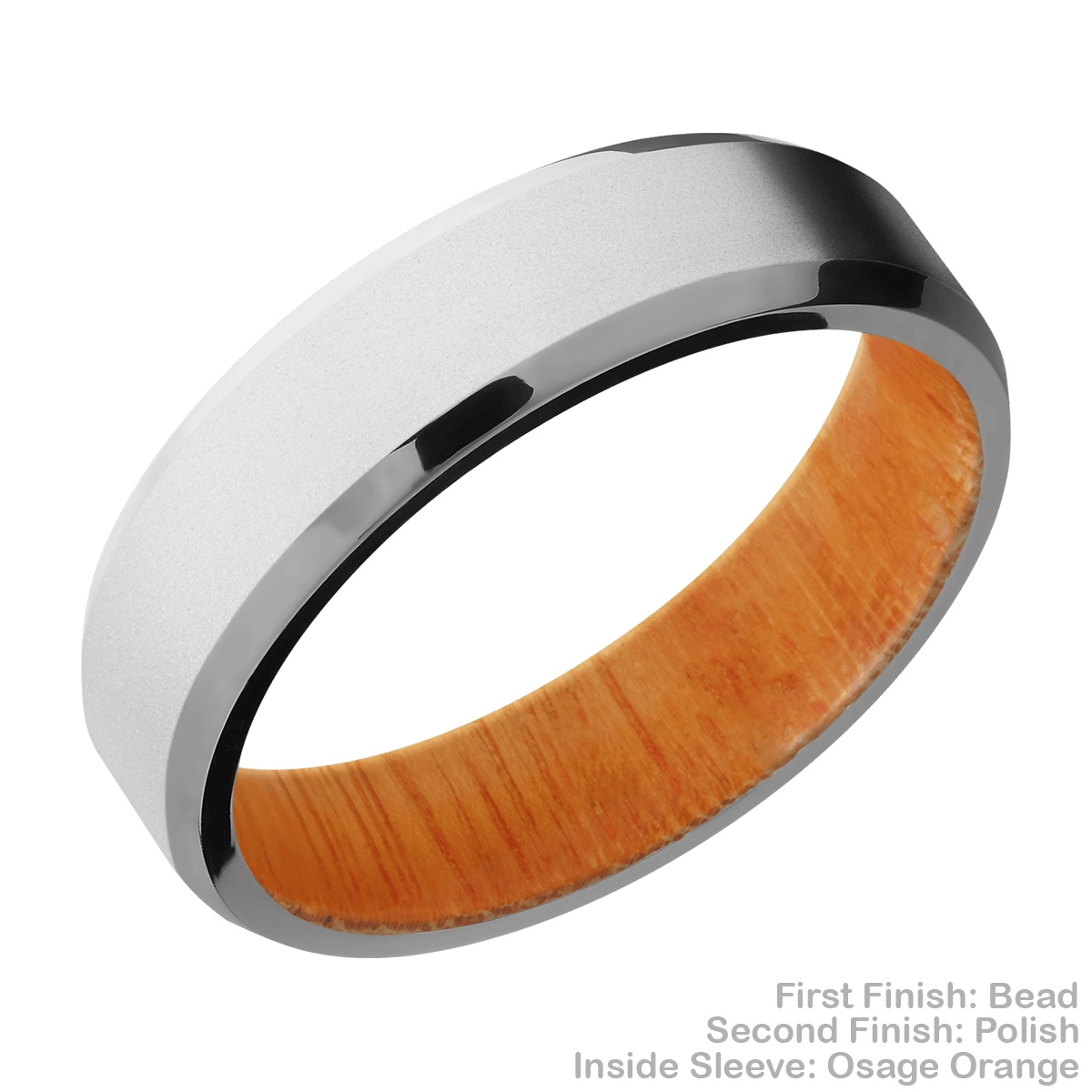 Lashbrook HWSLEEVECC6B Cobalt Chrome and Hardwood Wedding Ring or Band Alternative View 5