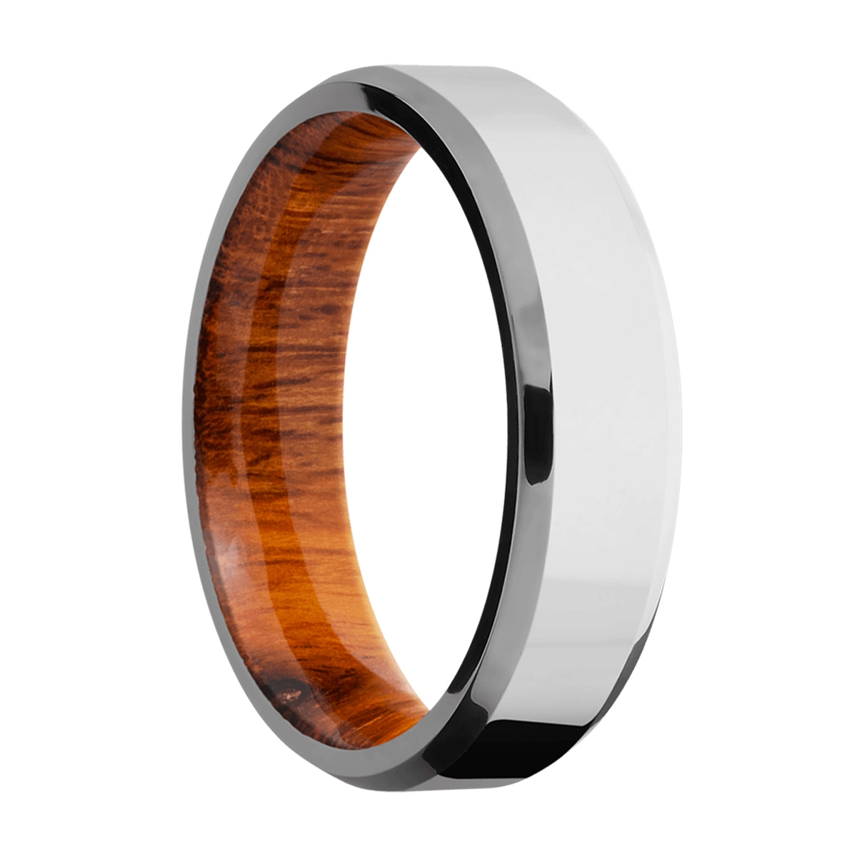 Lashbrook HWSLEEVECC6B Cobalt Chrome and Hardwood Wedding Ring or Band Alternative View 1