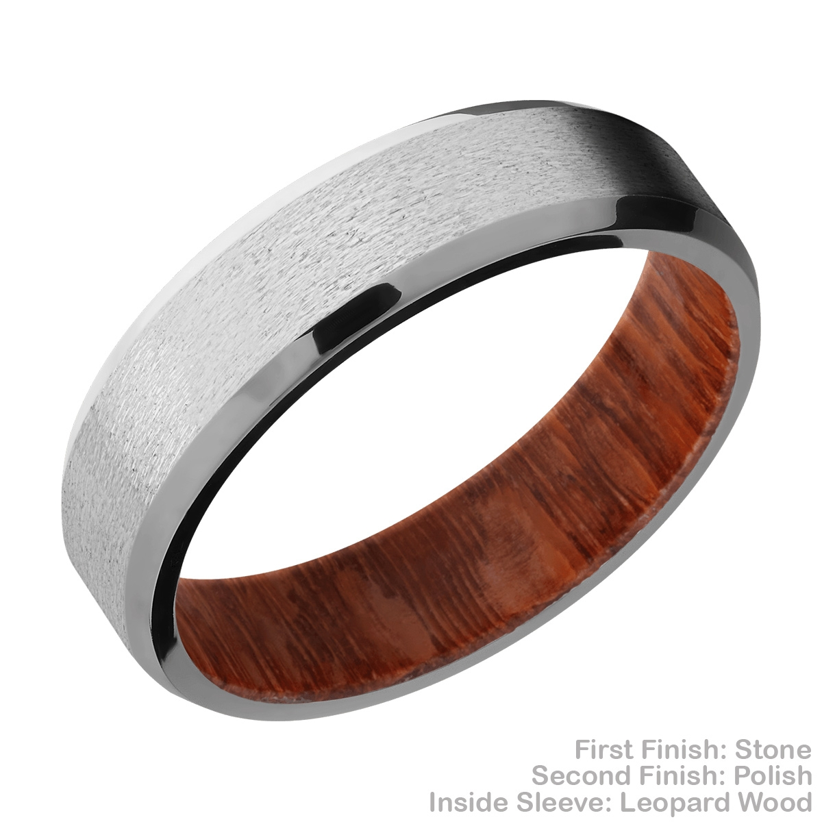 Lashbrook HWSLEEVECC6B Cobalt Chrome and Hardwood Wedding Ring or Band Alternative View 4