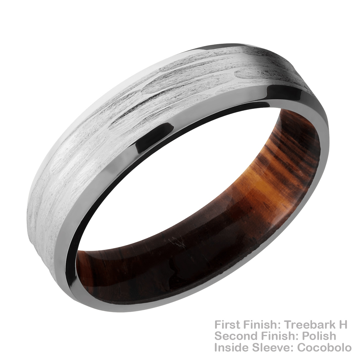 Lashbrook HWSLEEVECC6B Cobalt Chrome and Hardwood Wedding Ring or Band Alternative View 11