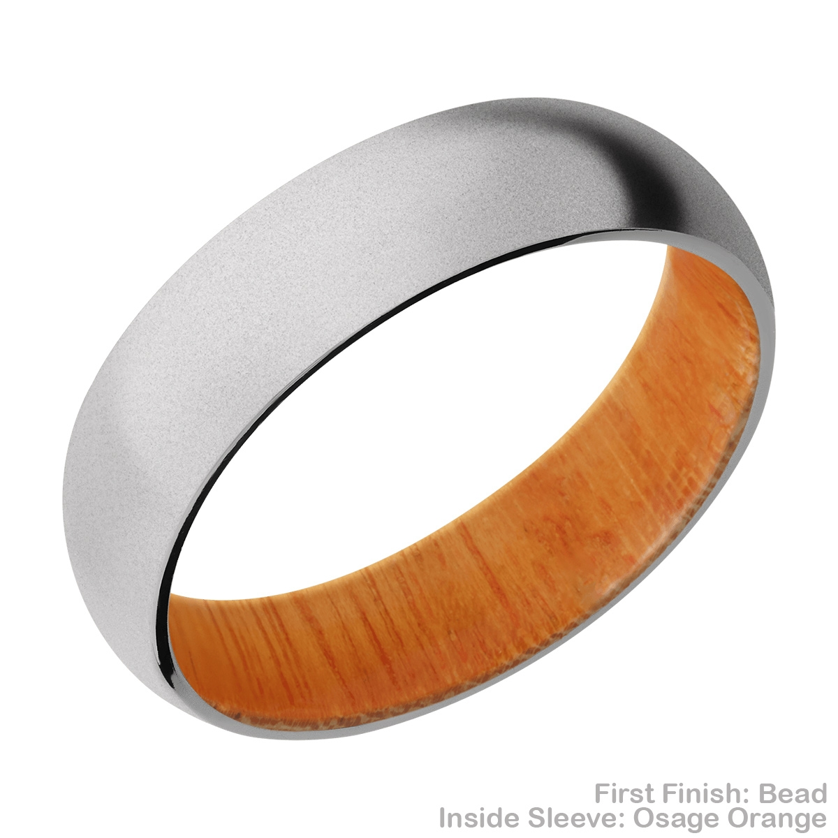 Lashbrook HWSLEEVECC6D Cobalt Chrome and Hardwood Wedding Ring or Band Alternative View 5
