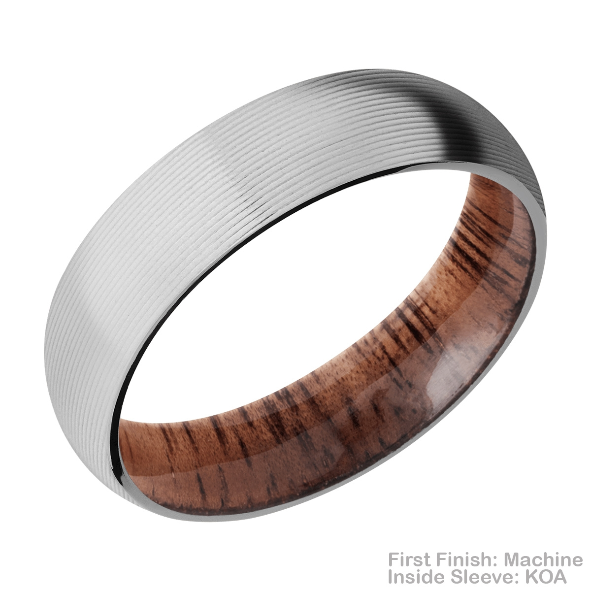Lashbrook HWSLEEVECC6D Cobalt Chrome and Hardwood Wedding Ring or Band Alternative View 14