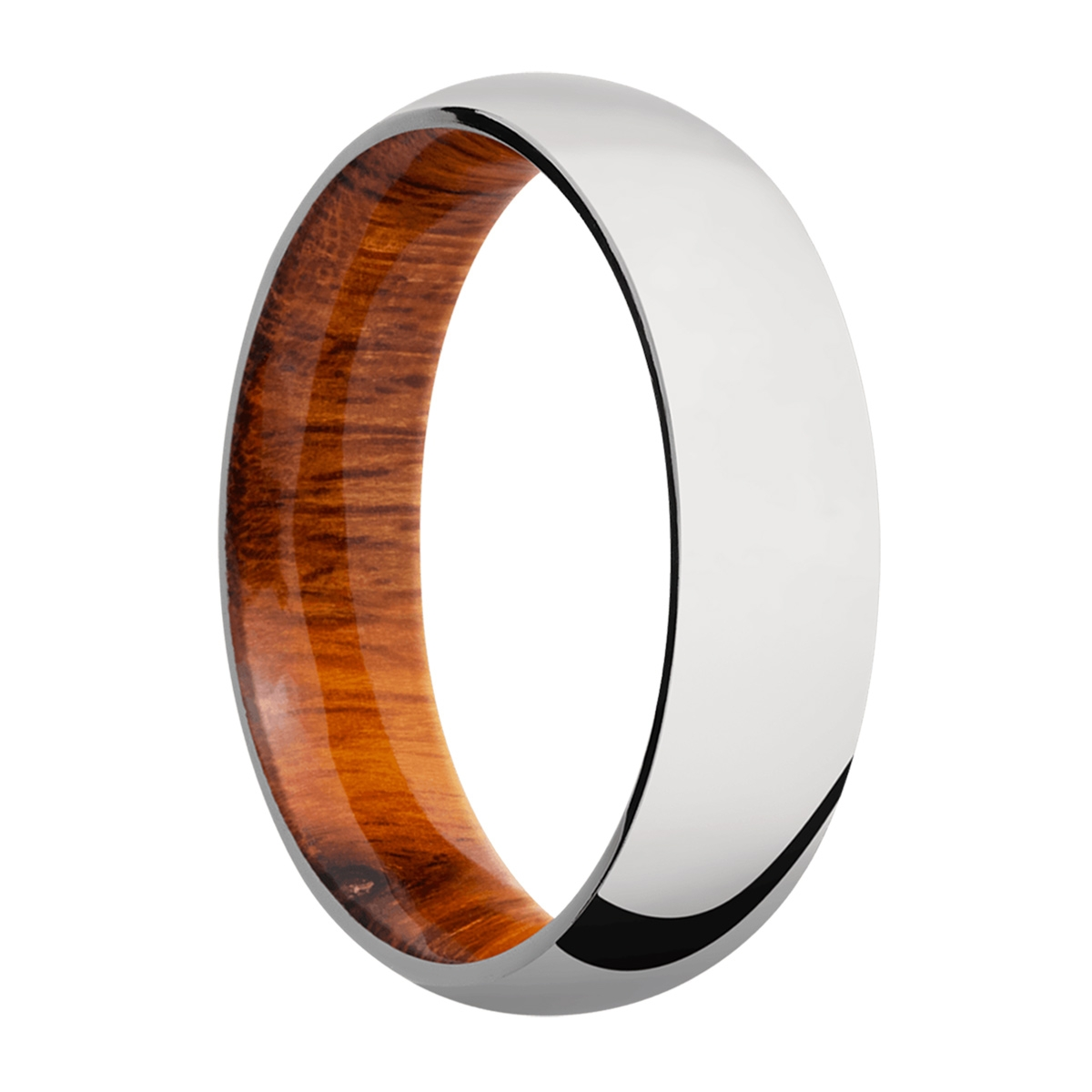 Lashbrook HWSLEEVECC6D Cobalt Chrome and Hardwood Wedding Ring or Band Alternative View 1