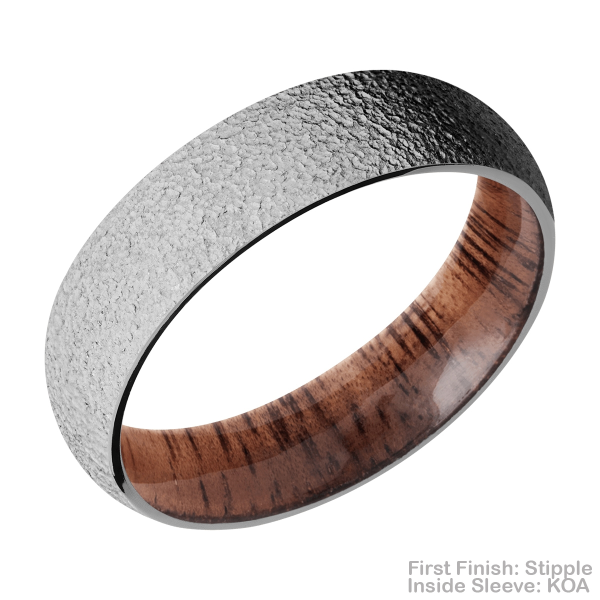 Lashbrook HWSLEEVECC6D Cobalt Chrome and Hardwood Wedding Ring or Band Alternative View 15