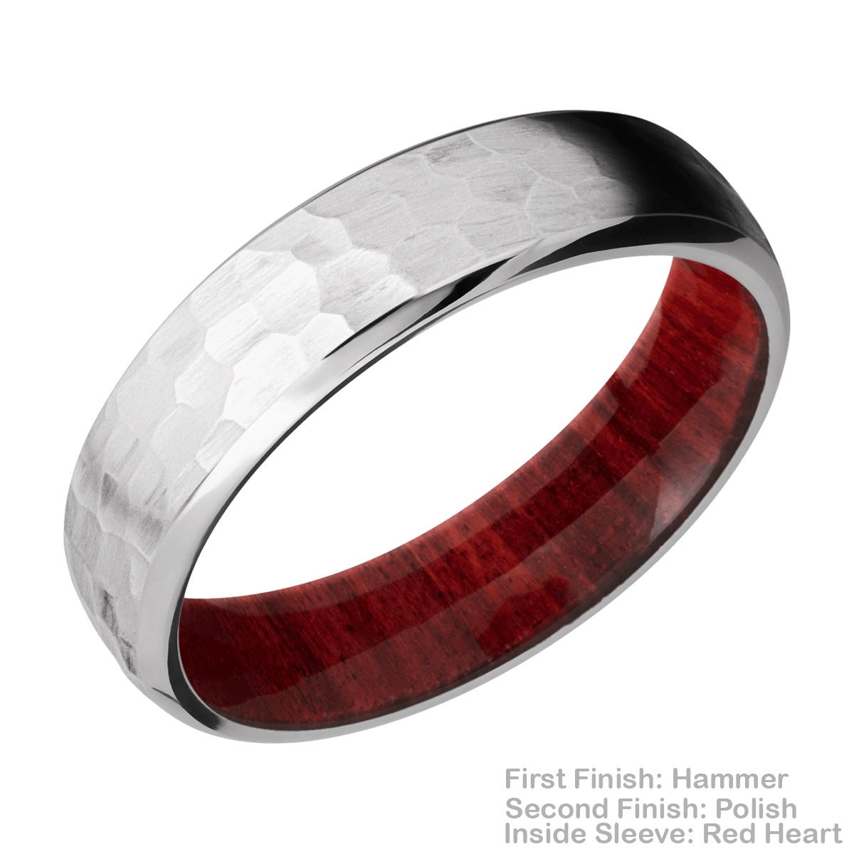 Lashbrook HWSLEEVECC6DB Cobalt Chrome and Hardwood Wedding Ring or Band Alternative View 10