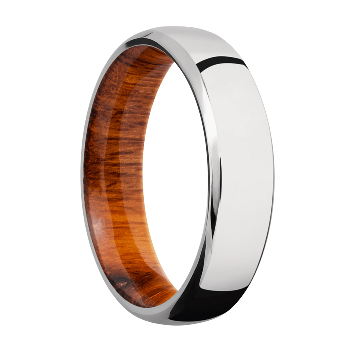 Lashbrook HWSLEEVECC6DB Cobalt Chrome and Hardwood Wedding Ring or Band Alternative View 1