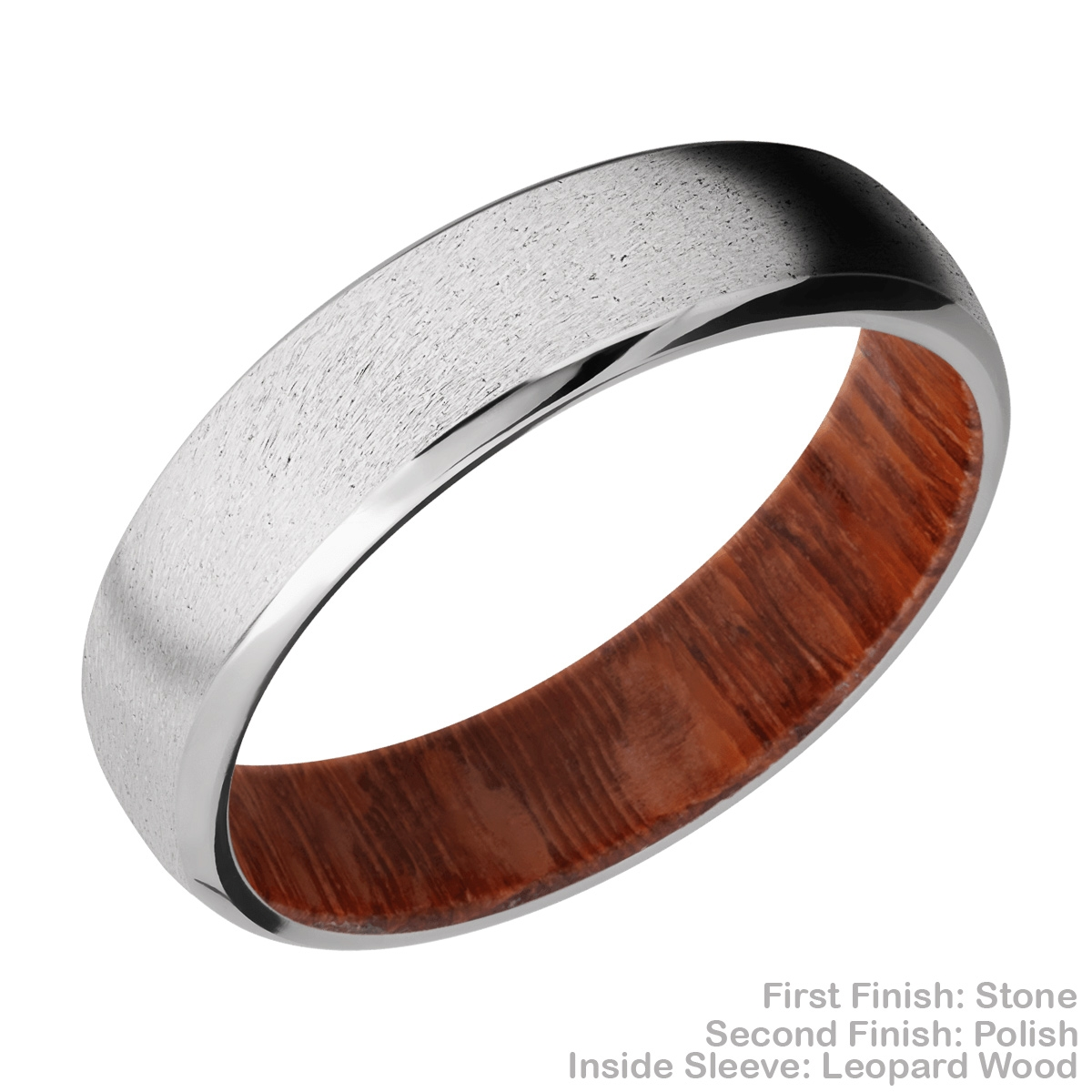 Lashbrook HWSLEEVECC6DB Cobalt Chrome and Hardwood Wedding Ring or Band Alternative View 4
