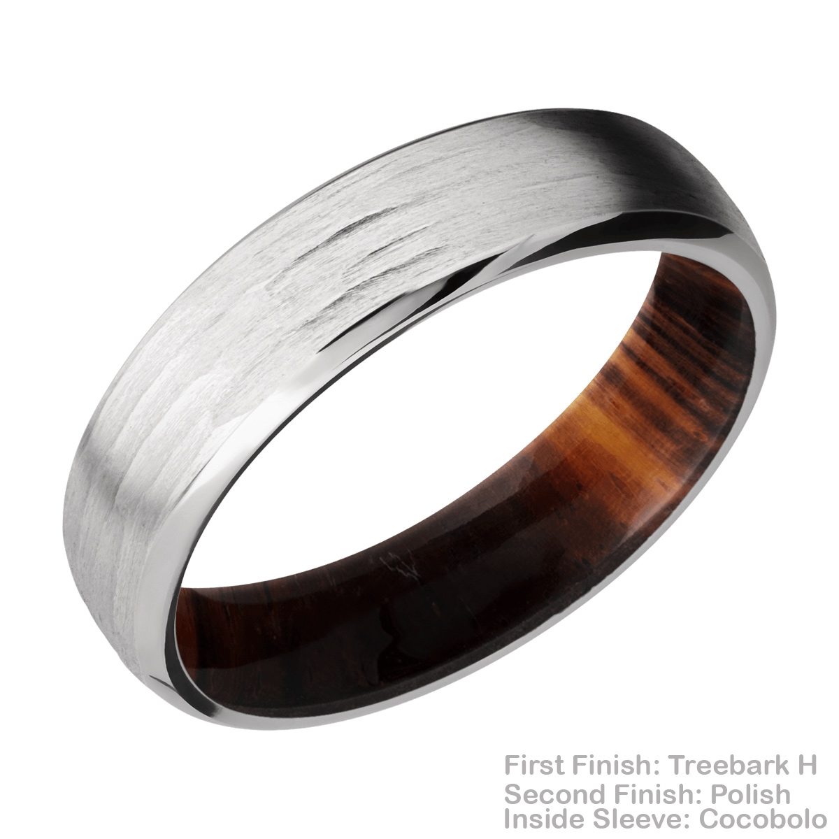 Lashbrook HWSLEEVECC6DB Cobalt Chrome and Hardwood Wedding Ring or Band Alternative View 11