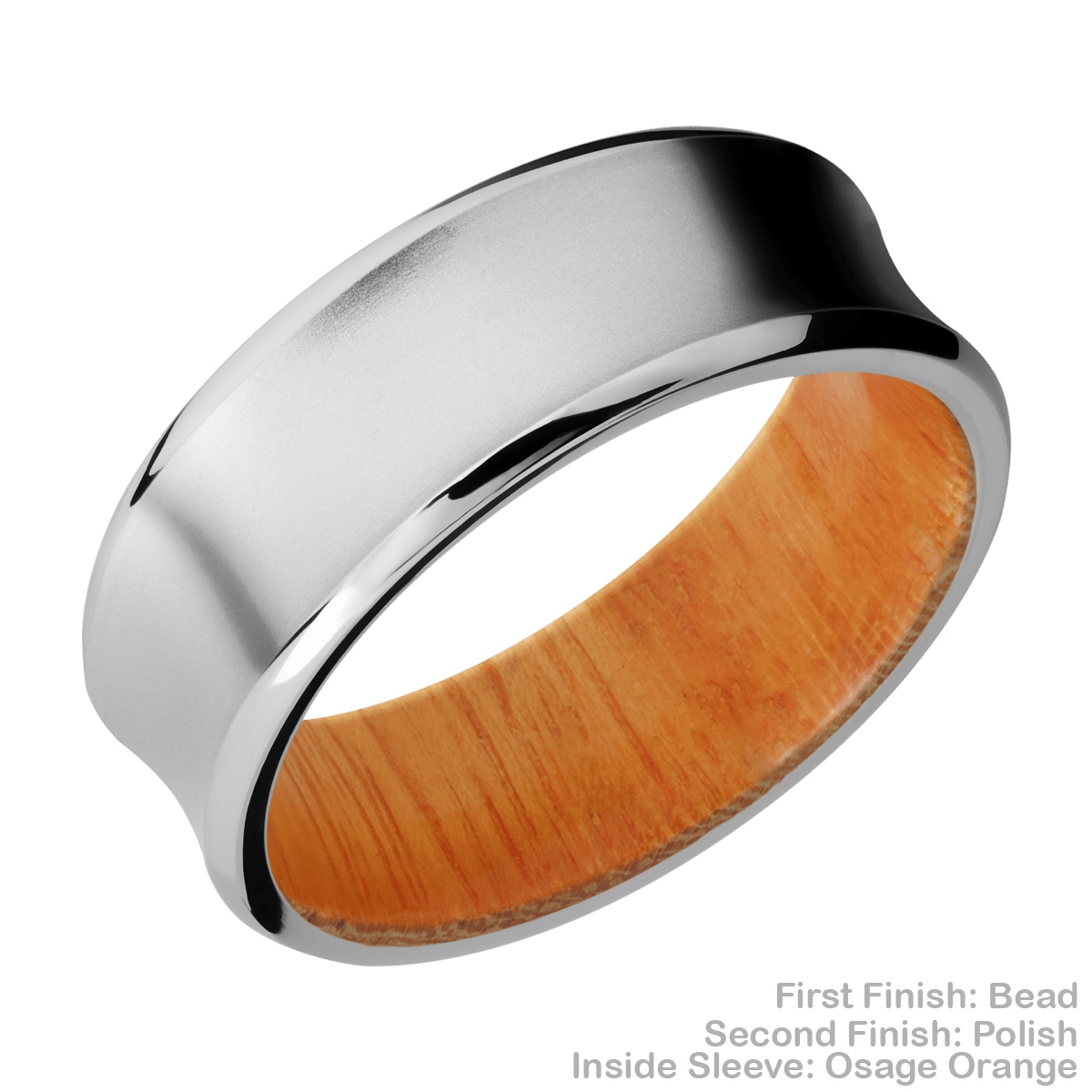 Lashbrook HWSLEEVECC8CB Cobalt Chrome and Hardwood Wedding Ring or Band Alternative View 6