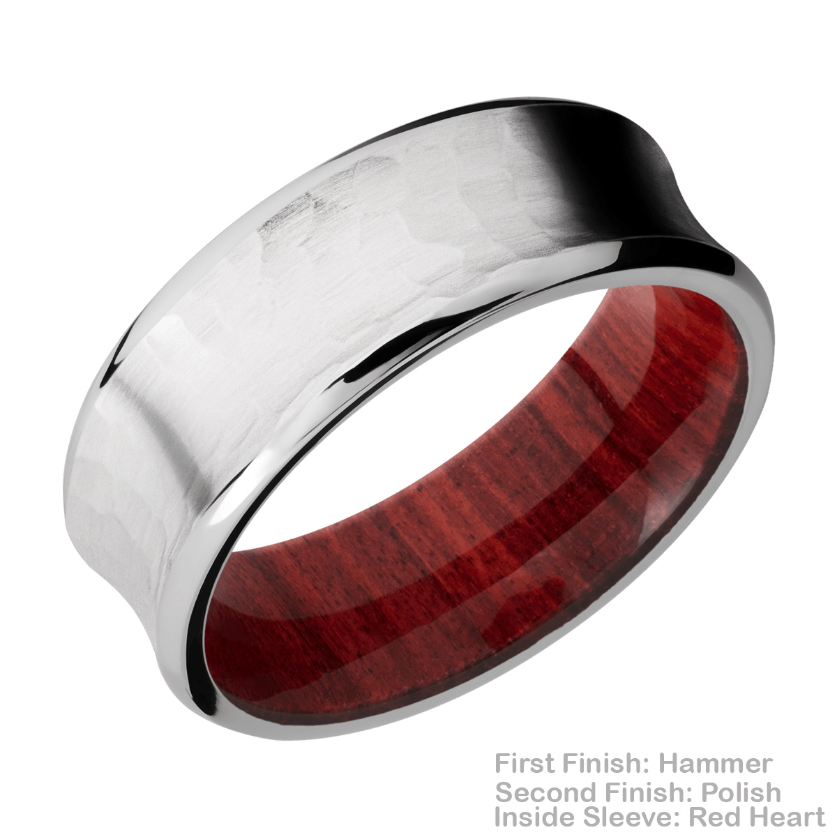 Lashbrook HWSLEEVECC8CB Cobalt Chrome and Hardwood Wedding Ring or Band Alternative View 10