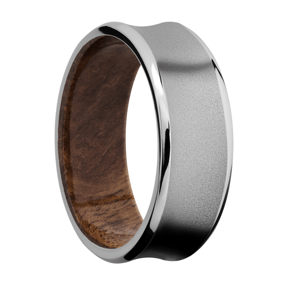 Lashbrook HWSLEEVECC8CB Cobalt Chrome and Hardwood Wedding Ring or Band Alternative View 1
