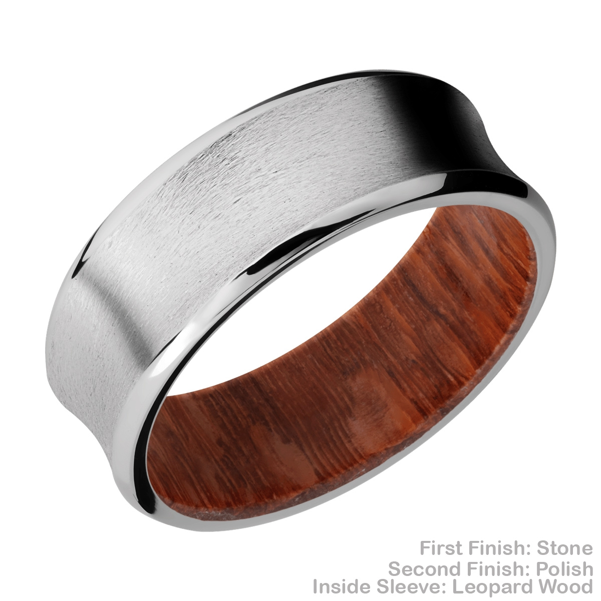 Lashbrook HWSLEEVECC8CB Cobalt Chrome and Hardwood Wedding Ring or Band Alternative View 5