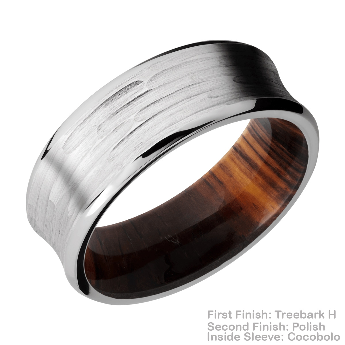 Lashbrook HWSLEEVECC8CB Cobalt Chrome and Hardwood Wedding Ring or Band Alternative View 11