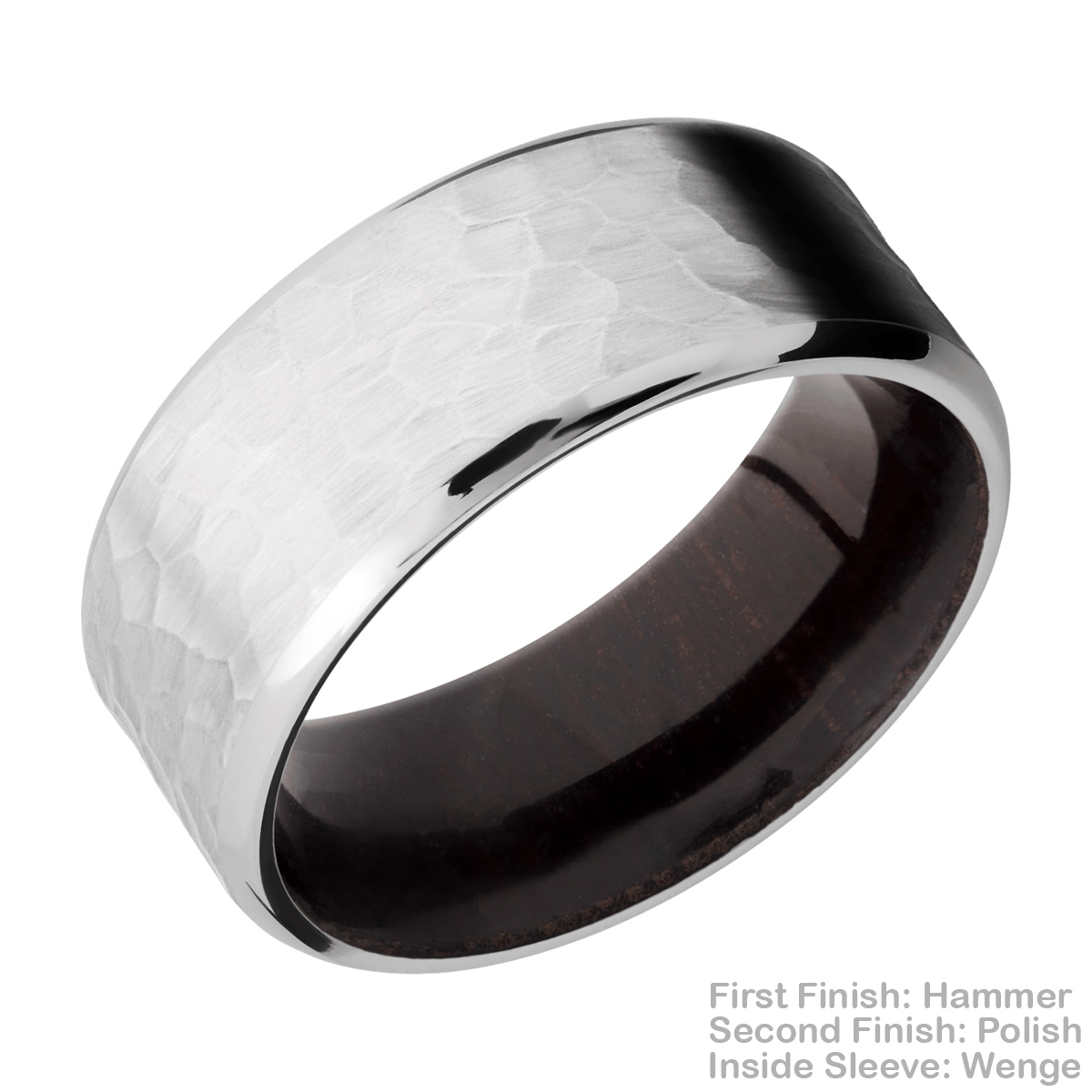 Lashbrook HWSLEEVECC9B Cobalt Chrome and Hardwood Wedding Ring or Band Alternative View 13