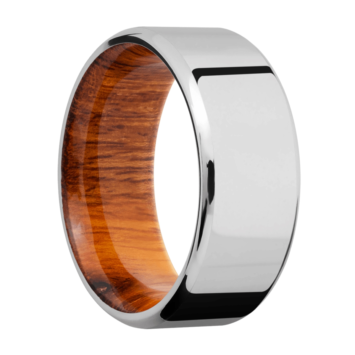 Lashbrook HWSLEEVECC9B Cobalt Chrome and Hardwood Wedding Ring or Band Alternative View 1