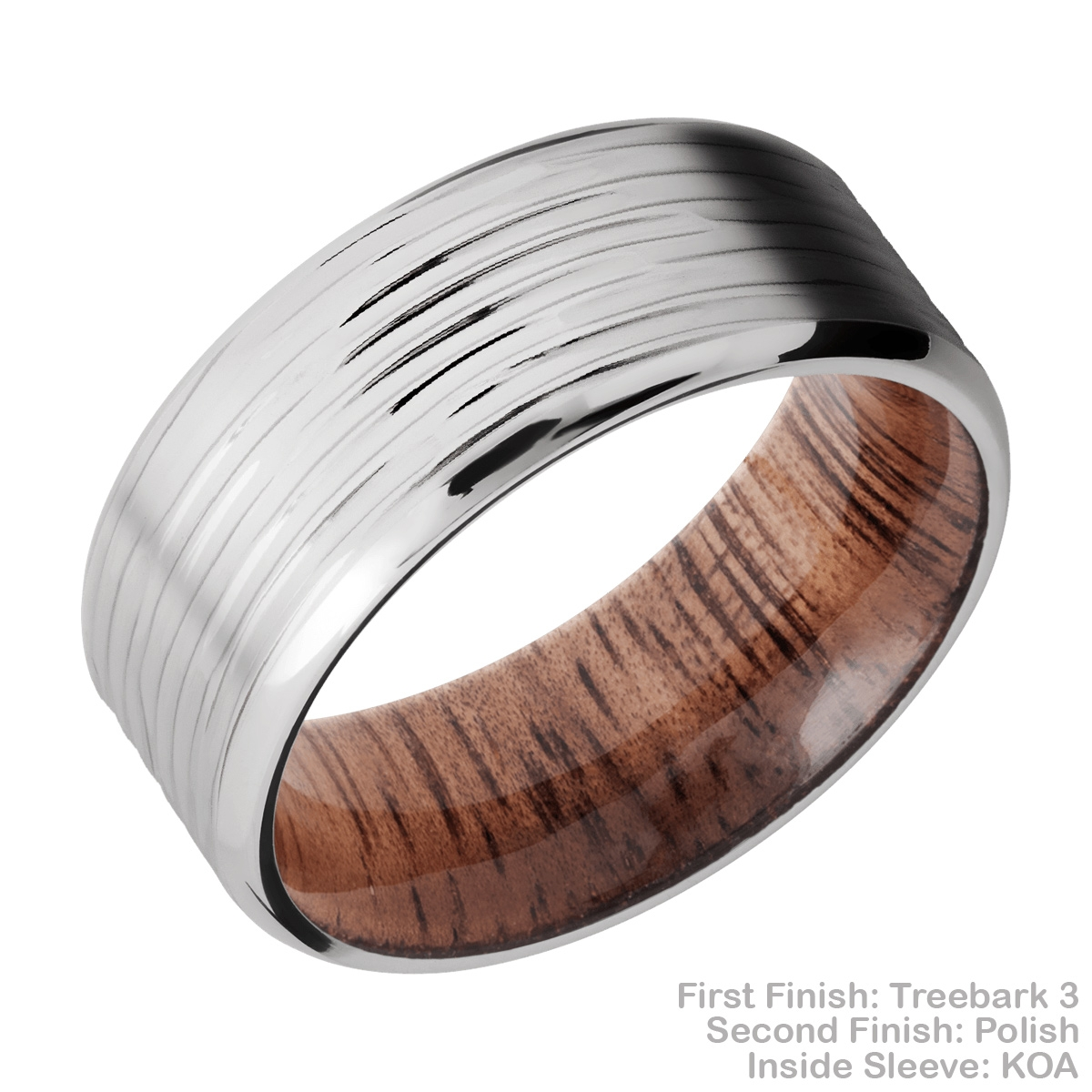 Lashbrook HWSLEEVECC9B Cobalt Chrome and Hardwood Wedding Ring or Band Alternative View 14