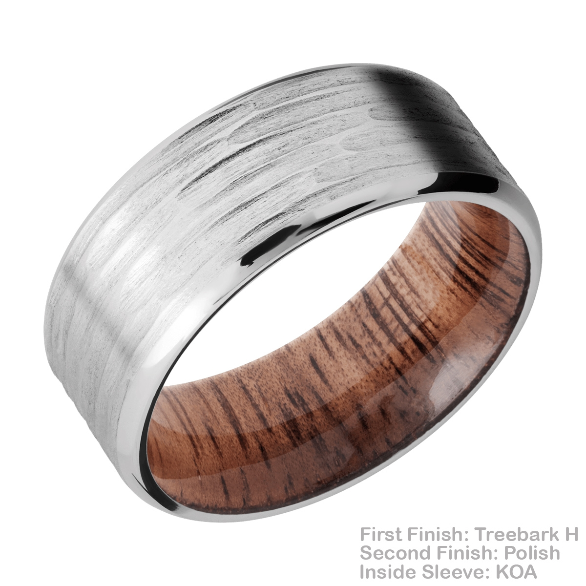 Lashbrook HWSLEEVECC9B Cobalt Chrome and Hardwood Wedding Ring or Band Alternative View 15