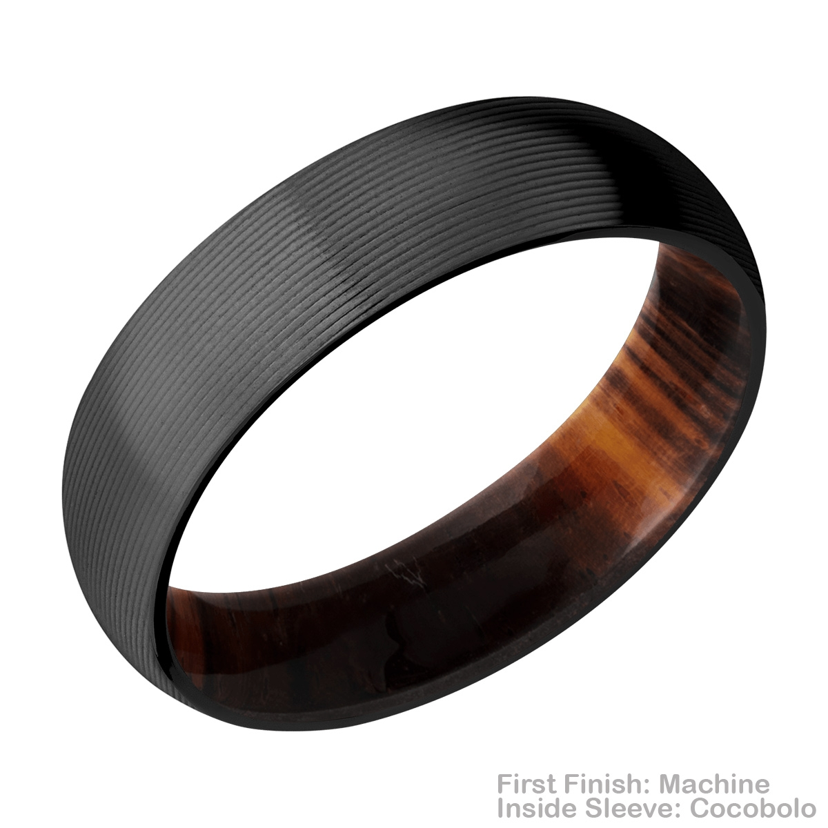 Lashbrook HWSLEEVEZ6D Zirconium Wedding Ring or Band