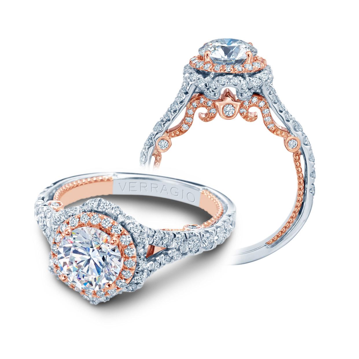 Verragio Insignia 7088r 2wr Platinum Engagement Ring Tq
