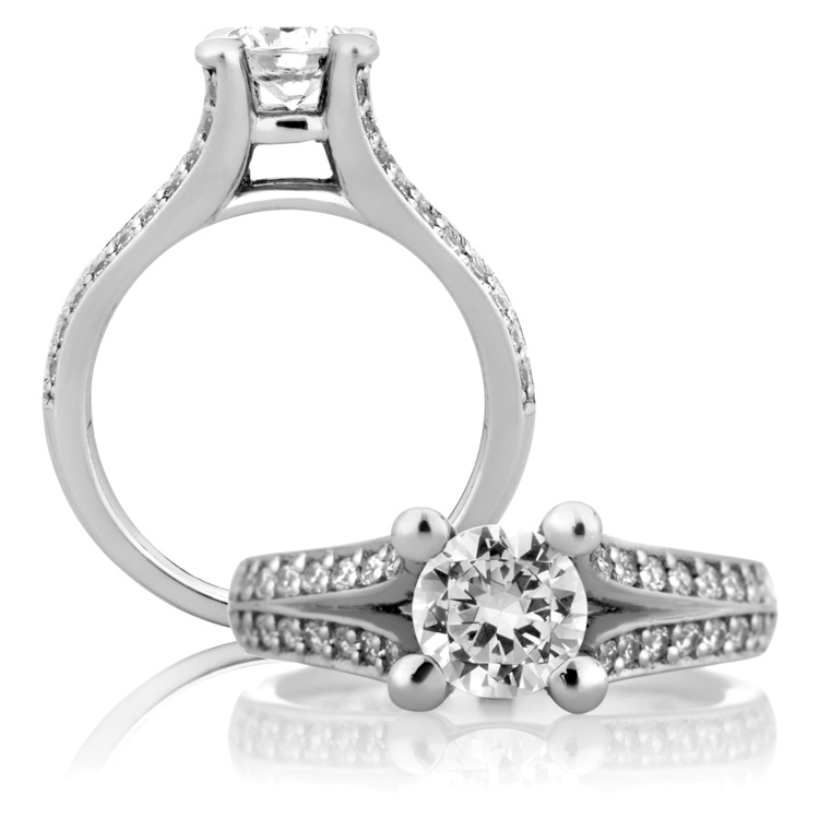 A Jaffe Platinum Classic Engagement Ring ME1108 / 150