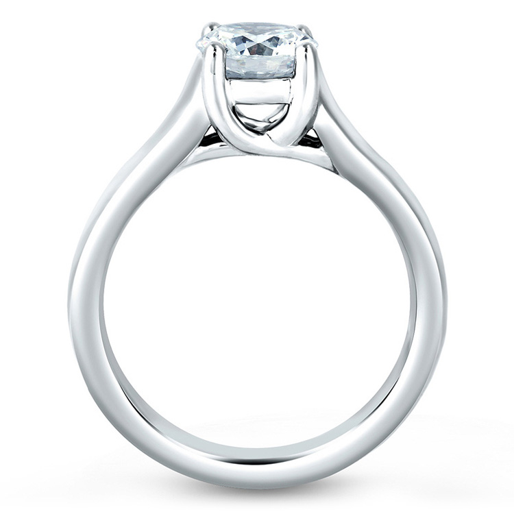 A Jaffe 14 Karat Classic Engagement Ring ME1280  Alternative View 1