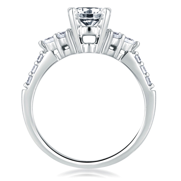 A Jaffe Platinum Classic Engagement Ring ME1290 Alternative View 1