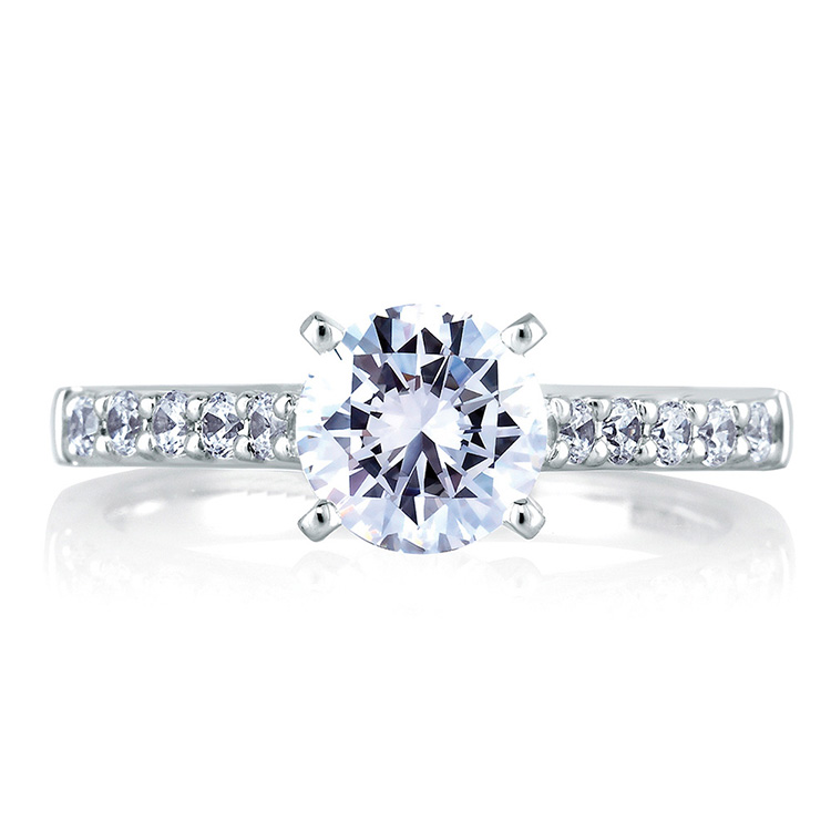 A Jaffe Platinum Classic Engagement Ring ME1353 Alternative View 2