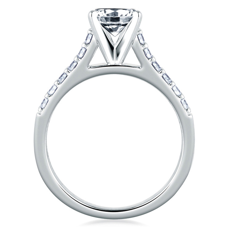 A Jaffe Platinum Classic Engagement Ring ME1353 Alternative View 1