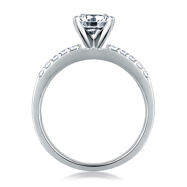 A Jaffe Platinum Classic Engagement Ring ME1401 Alternative View 1