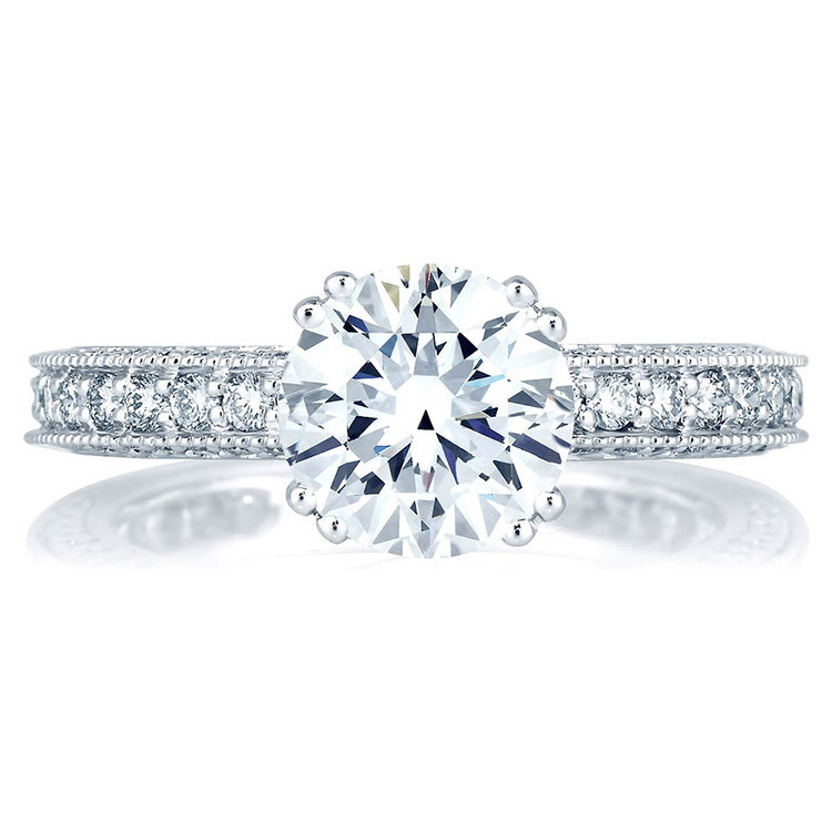A Jaffe Platinum Diamond Engagement Ring ME1465  Alternative View 2