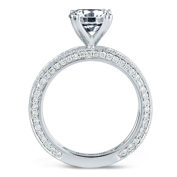 a jaffe 18 karat engagement ring me1465 tq diamonds