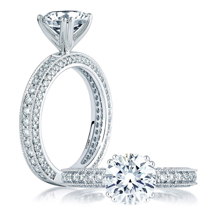 A Jaffe Platinum Diamond Engagement Ring ME1465