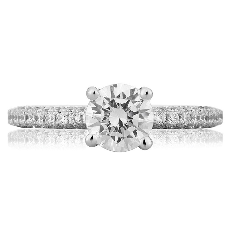 A Jaffe Platinum Diamond Engagement Ring ME1534  Alternative View 1