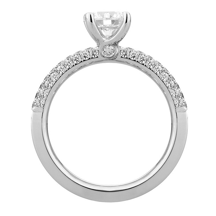 A Jaffe Platinum Diamond Engagement Ring ME1534  Alternative View 2