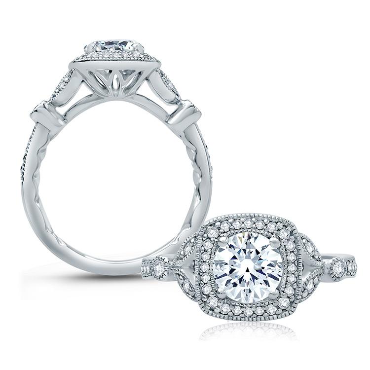 a jaffe 18 karat classic engagement ring me2106q tq diamonds