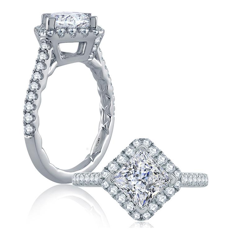 a jaffe 18 karat classic engagement ring me2136q tq diamonds