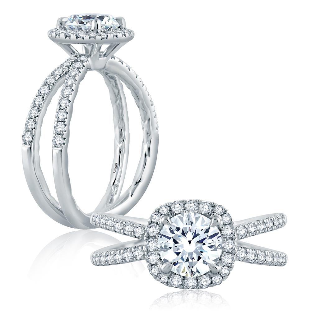 a jaffe platinum classic engagement ring me2187q tq diamonds