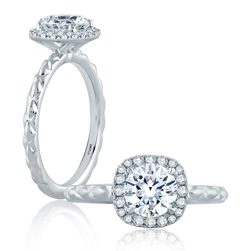 a jaffe 14 karat classic engagement ring me2192q tq diamonds
