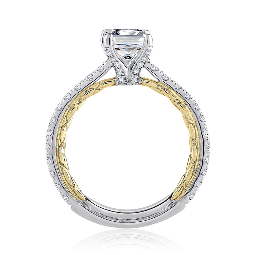 A.JAFFE Platinum Classic Engagement Ring MECPS2349Q Alternative View 1