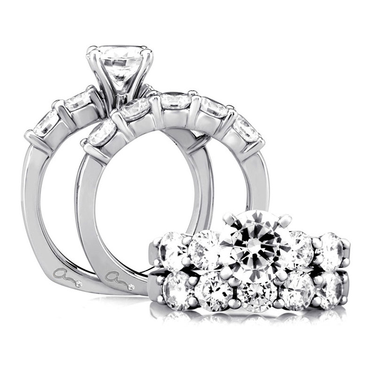 A Jaffe Platinum Signature Engagement Ring MES015 Alternative View 3