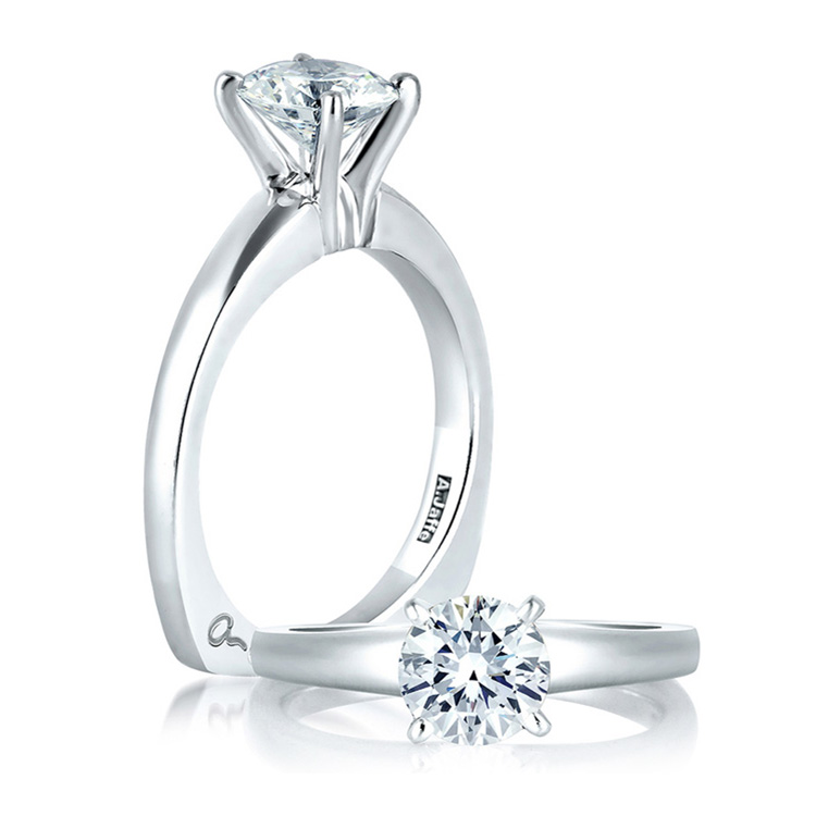 A Jaffe 18 Karat Solitaire Engagement Ring MES032