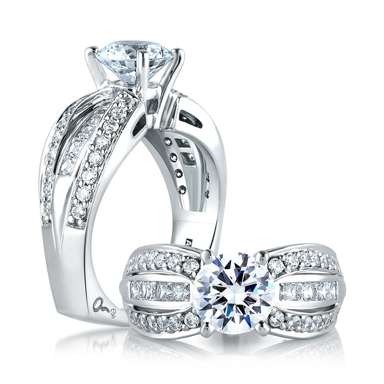 A Jaffe Platinum Signature Engagement Ring MES045