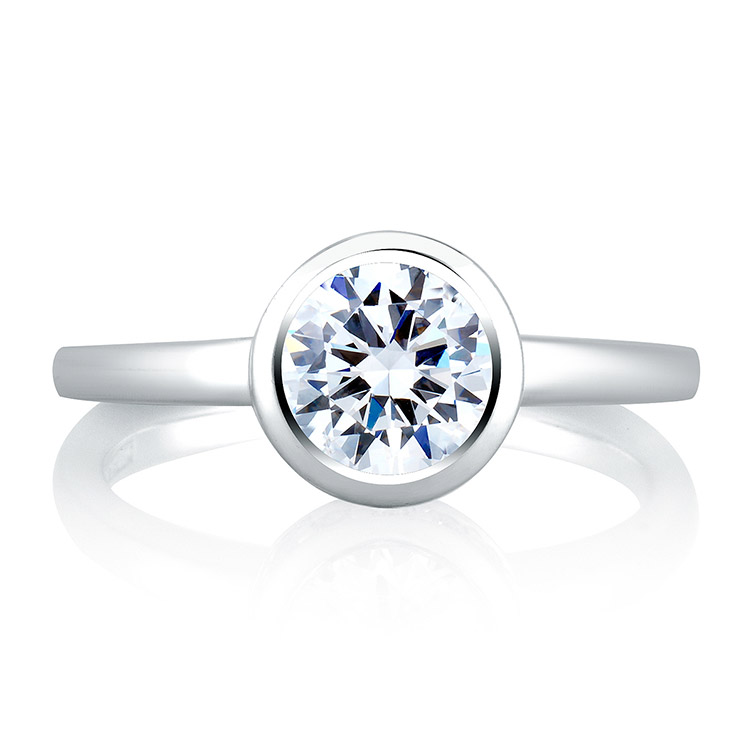 A Jaffe Platinum Signature Engagement Ring MES057 Alternative View 2