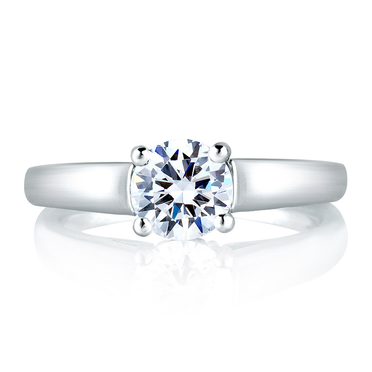 A Jaffe 18 Karat Solitaire Engagement Ring MES063 Alternative View 2
