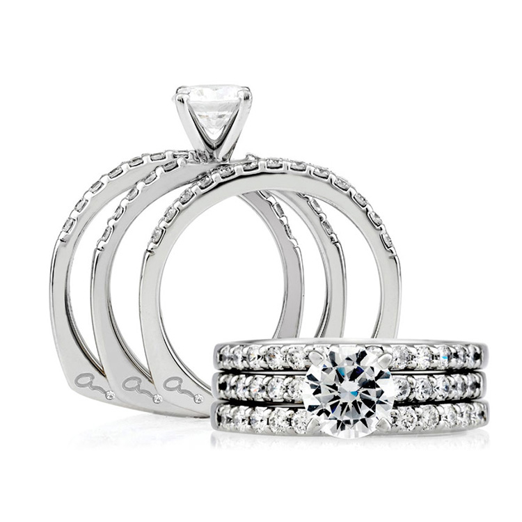 A Jaffe Platinum Signature Engagement Ring MES078 / 20 Alternative View 3