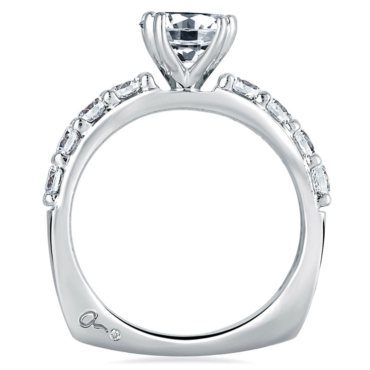 A Jaffe Platinum Signature Engagement Ring MES078 / 20 Alternative View 1