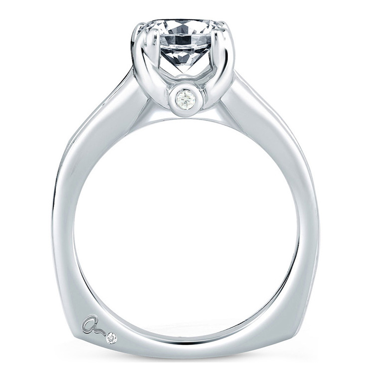 A Jaffe Platinum Signature Engagement Ring MES090  Alternative View 1